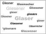 Familienname Glaser